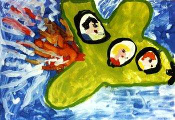 Рисунок: Гоша Курганский, 6 лет.