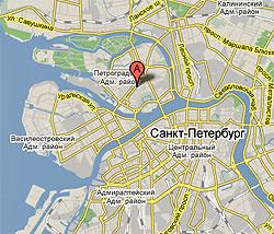 Карта расположения офиса в Санкт-Петербурге
